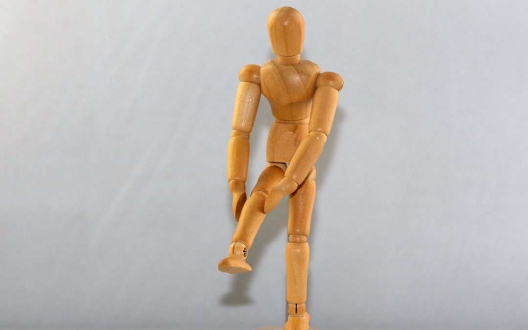 figure with joint pain/hurt